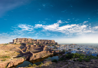 Mehrangarh fort in India, Rajasthan, Jodhpur