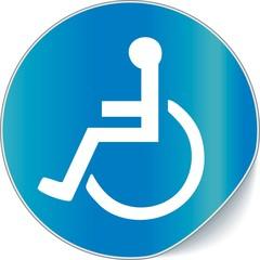 étiquette handicapé
