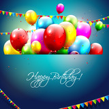 Fototapety Colorful birthday background