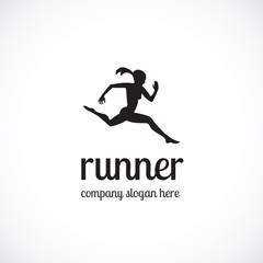 Runner vector logo