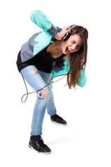 Teenager beim Musik hören