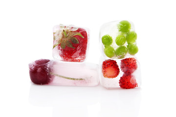 Frozen fruits and vegetables.