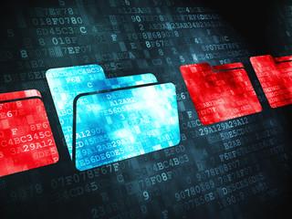 Safety finance concept: Folder on digital background