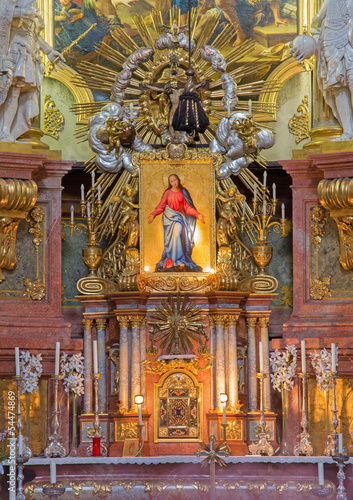 Vienna - main altar of baroque st. Peter church