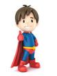3d render of a superhero boy giving ok sign