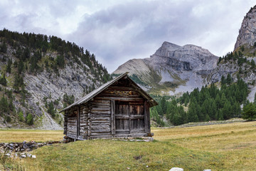 Natural reserve of Queyras, department of the high Alps, France