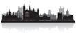 Cambridge city skyline silhouette vector illustration