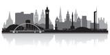 Fototapety Glasgow city skyline silhouette