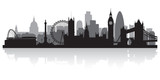 London city skyline silhouette