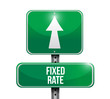 fixed rate road sign illustration design