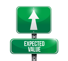expected value road sign illustration design