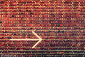 arrow right wall
