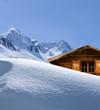 Schihütte im Gebirge