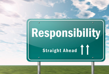 "Highway Signpost ""Responsibility"""