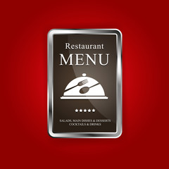Restaurant menu red