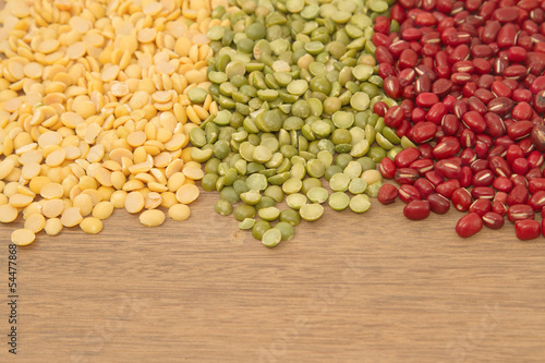 Different kinds of bean,soy bean ,mung bean and azuki bean