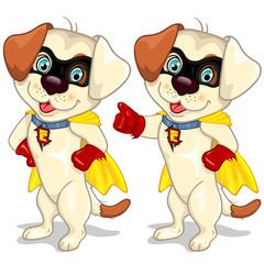 Superhero dog with cape