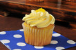 Delicious lemon cupcake