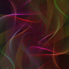 abstract wavy lines clorful background