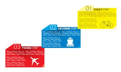Infografica esempi biglietti cartelli fogli numerati post-it