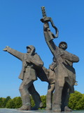 Detail of Victory Memorial to Soviet Army (Riga, Latvia) poster