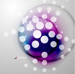Futuristic colorful circles