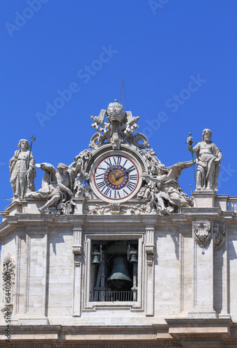 Clock of St. Peter's cathedral in Vatican city
