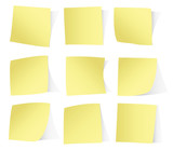 Yellow stickers isolated on white background vector eps10