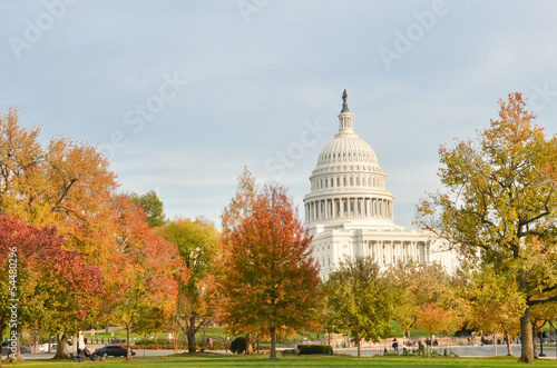 United States Capitol in autumn - Washington DC United States