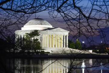 Washington DC - Jefferson Memorial at night