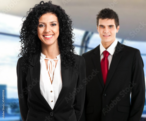 Two businesspeople in the office