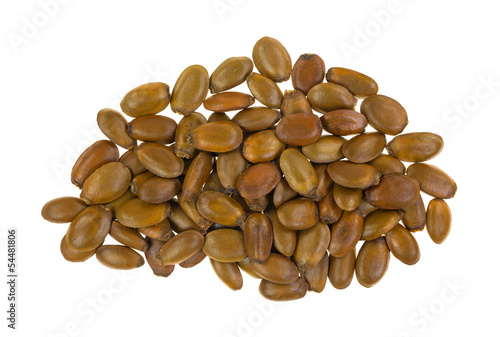 Annona muricata seeds on white background