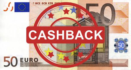 50 Euroschein mit Cashback Stempel