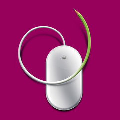 Mouse pencil - Pink background