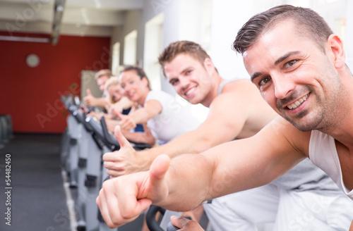 gruppe auf dem fahrrad
