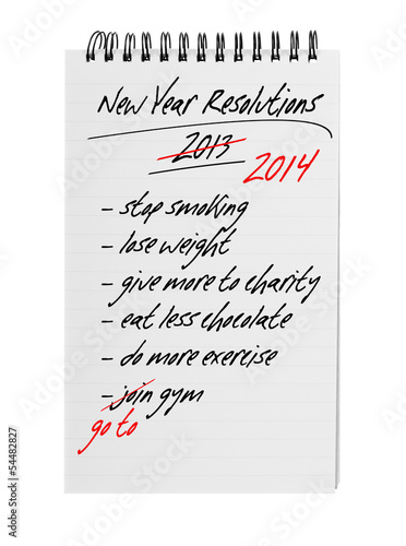 New year resolutions - same again 2014