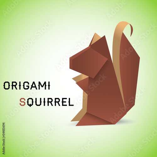 Squirrel origami
