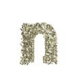 Kleiner Buchstabe n gebildet aus Dollar Banknoten