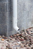White downspout