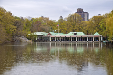 Restaurant by the lake in Central Park