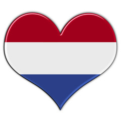 Heart with flag of Netherlands