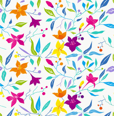 pattern; seamless; flower; bright, modern