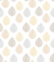 pattern, seamless, leaf, tree, bronze, silver, gold