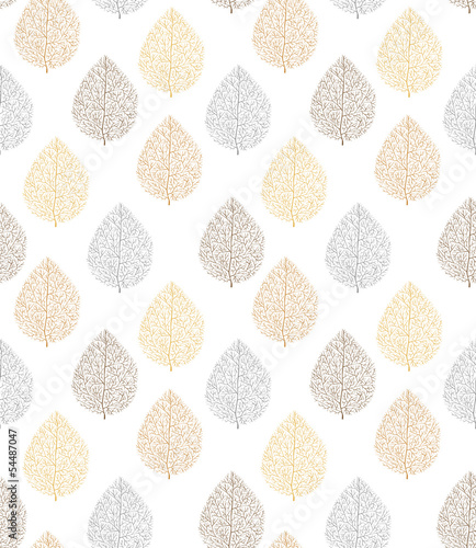 pattern, seamless, leaf, tree, bronze, silver, gold