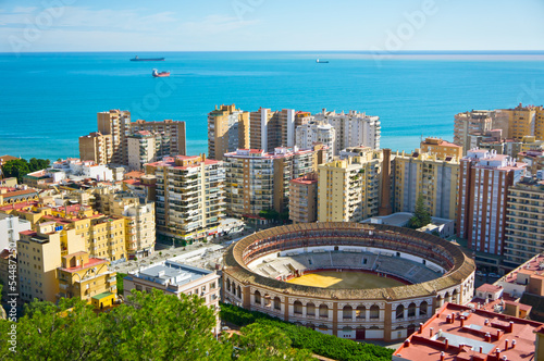 Beautiful view of Malaga city, Spain