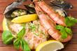 parrillada de pescados y mariscos