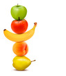 Group of fresh fruit. Dieting concept. Vector.