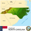 North Carolina USA counties name location map background