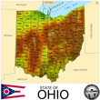 Ohio USA counties name location map background