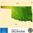 Oklahoma USA counties name location map background